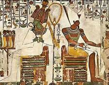 Egypt - temple scene 2 - Osiris & Atum - Travel Souvenir Flexible Fridge Magnet
