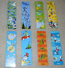 Lot of 8 Dr Seuss Bookmarks Cat in the Hat Green Eggs & Ham Horton and More!