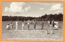 Real Photo Postcard RPPC Archery Target Practice Gay El Rancho Gaylord Michigan