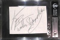 Bill Kazmaier Signed 4x6 Index Card BAS Beckett COA WWE World's Strongest Man