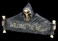 Letrero para puerta Muerte Welcome to Claro Decoración Figura Gótica Esqueleto