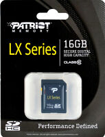 Patriot SD 16GB SDHC Memory Card Class 10 Model PSF16GSDHC10 Sealed Package