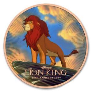 Niue 2019 $2 The Lion King - Gold 1 Oz Silver Coin