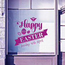 Easter Happy Day Greetings Vinyls Shop Window Display Wall Decals Stickers A398