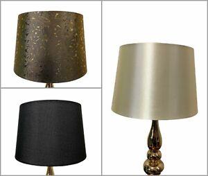 "12"" Empire Drum Lampshade Table Ceiling Light Shade 30cm Black Cream Gold Teal"
