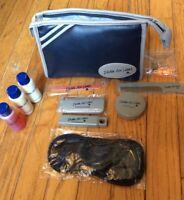 Delta Airlines Vintage Travel Toiletries Zippered Bag Case New Items! Comb Etc