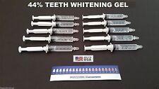 10 Teeth Whitening Syringes 44% Carbamide Peroxide Whitening Gel Made in USA