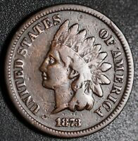 1873 INDIAN HEAD CENT - With LIBERTY - FINE