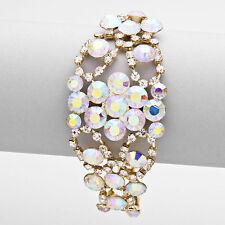 Gold AB Bubble Evening Bracelet