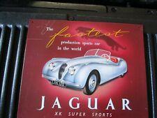 tin metal dealership home garage repair shop gas & oil man cave decor jaguar