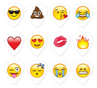 Emoji Guitar Picks Set Of 12 Premium Plectrums