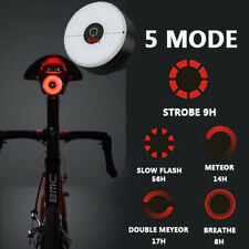 Bike Rear Tail Light LED USB Rechargeable Bicycle Helmet Backpack Sport Red Lamp