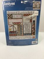 "Janlynn Counted Cross Stitch Kit ""Summer"" #080-0484 9.25"" X 9.25"" New"