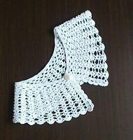 White collar Crocheted collar Handmade collar Wedding dress decor Eco friendly