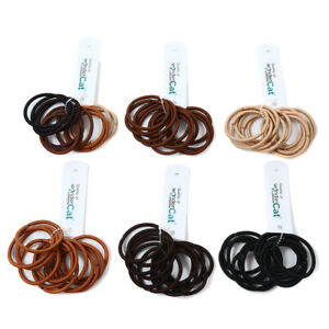12 PCS Endless Snag Free Thick Elastic Hair Bands Bobbles Band School Ponytail