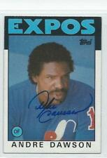 Andre Dawson 1986 Topps signed card Expos auto autograph FREE Shipping