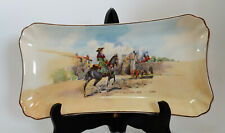 Royal Doulton Antique Dick Turpin at Bootham Bar York Sandwich Plate D5940