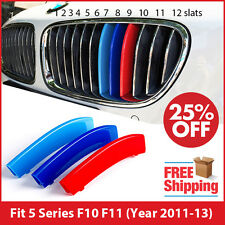 M-Tech Kidney Grille 3 Color Cover Stripes Clip for BMW 5 Series F10 F11 2011-13