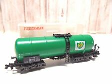E 48 ) wagon citerne a bogies BP FLEISCHMANN en BO 8482 train electrique ech N