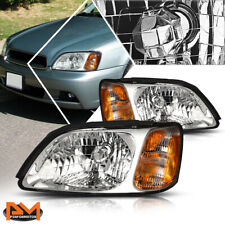 For 00-04 Subaru Legacy L Headlight/Lamps Replacement Chrome Housing Amber Side