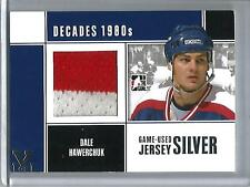 Dale Hawerchuk 10/11 In The Game Decades 1980's Game Used Jersey #1/1