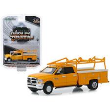 Greenlight 2018 Dodge Ram 3500 Dually Service Bed Ladder Rack Yellow 1:64 46020C