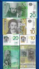 Serbia 10 & 20 Dinara Year 2011- 2013 Uncirculated Banknote Set # 1 Europe