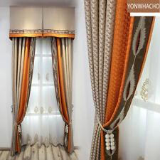 luxury high-precision modern coffee cloth blackout curtain valance B521
