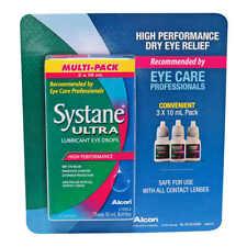 Systane Ultra-lubricant Eye Drops, 3 Packs, 10 mL Per Bottle, EXP Jun 2021