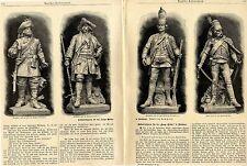 """Soldatenfiguren für die """"lange Brücke"""" in Potsdam 1895"""