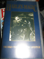 HARLEY DAVIDSON MAGIC THE BIKE THE LEGEND THE LIFESTYLE  SCARCE VHS PAL VIDEO
