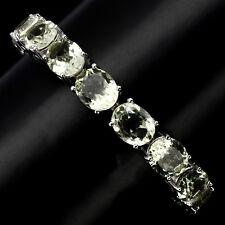 Armband, 925 Silber, Natural 11 x 9 mm. Grün Amethyst (Prasiolith), Vergoldet