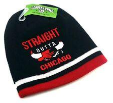 Chicago New Greatest Straight Outta Bulls Black Era Beanie Toque Knit Hat Cap