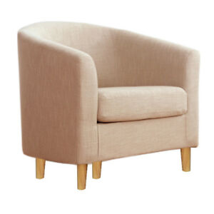 occasional Armchair Padded Chair Tub Seats Fabric Sofa Dining Room Lounge Club