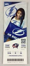 NHL 2012 01/24 Columbus Blue Jackets at Tampa Bay Lightning Full Ticket