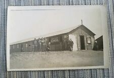 WWI Military Postcard CAMP SCHOOL SRUR RPPC Real Photo Soldiers France