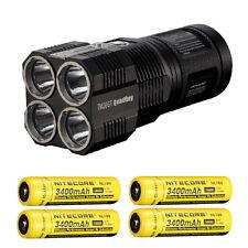 Bundle: Nitecore TM26GT Flashlight CREE XP-L HI V3 LED w/4x NL189 Batteries