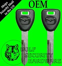 Lot of Two (2) Mazda Logo OEM NON-electronic Key Blank 599045 IN STOCK