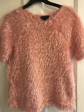 Topshop Size 8 Pink Fluffy Jumper Worn Once