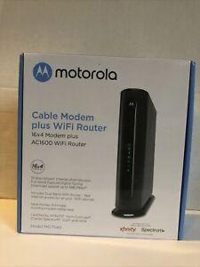 Motorola MG7540 16x4 DOCSIS 3.0 Cable Modem Plus AC1600 WiFi Router (closet)
