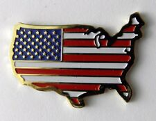 UNITED STATES USA FLAG MAP EMBLEM LAPEL HAT PIN BADGE 1 INCH