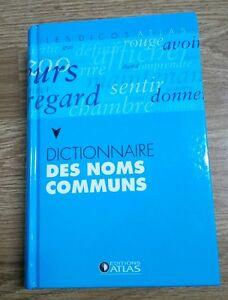 Dictionnaire des noms communs Editions Atlas