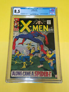 X-Men #35 CGC 8.5 Marvel Comics 1967 White Pages Spider-Man & Banshee Appearance