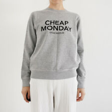 HOF115: Cheap Monday Pullover baumwolle / Ellie sweat sweatshirt cotton grau XS