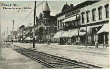 Pomeroy, OH Ohio 1912 Postcard, Front Street Scene by C.U. Williams