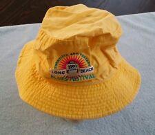 1999 Long Beach CA Blues Festival Hat Extra-Large XL Yellow Adams Bucket Fishing