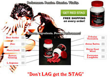 Red Stag Deer Antler Pills High T Male Enhancement Testosterone Booster 60 Day