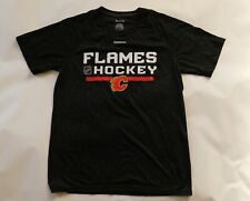 CALGARY FLAMES NHL HOCKEY Reebok Athletic Training Workout JERSEY SHIRT Men's L