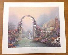 """Thomas Kinkade """"The Rose Arbor Cottage"""" 24x20"""" Hand Signed Examination Print"""