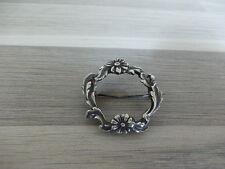 Nice vintage hand made silver brooch - flower ring 3 cm - Jugenstill style